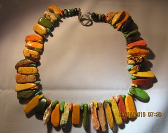 Necklace - Howlite Multi-Colored Beads