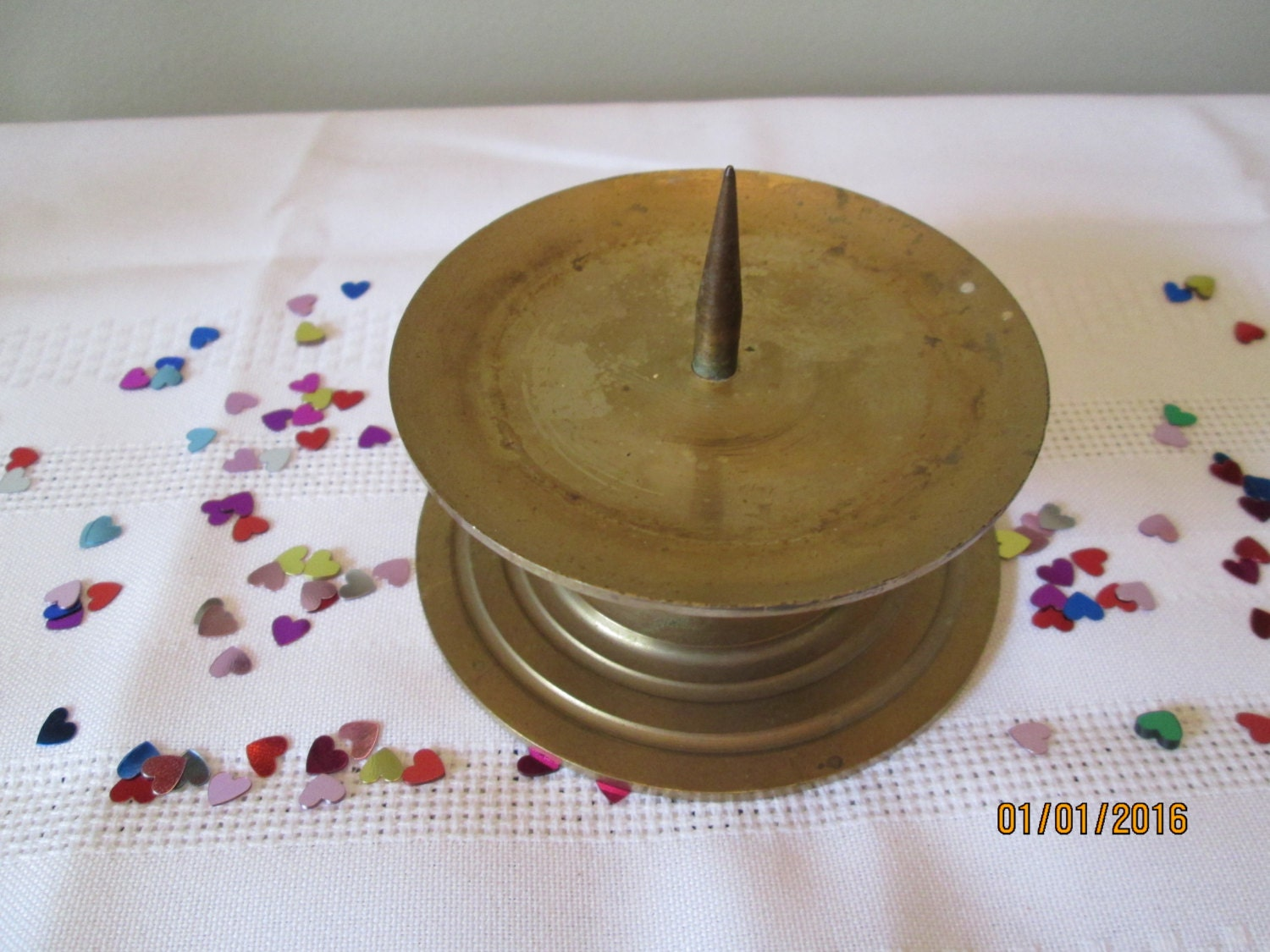 Vintage Brass Candle Holder Made In Taiwan Home Decor