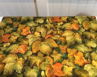 Quiltsy Destash Party- Benartex, Flower Show,  Leaf Fabric, 2.6 Yards, 100% Cotton
