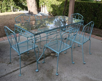 Vintage Outdoor Iron Patio Set - LG