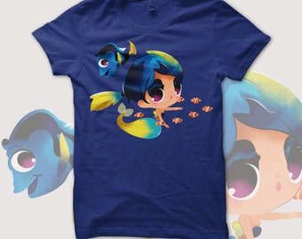 FINDING DORY / Dory Mermaid t-shirt fanart
