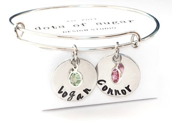 Personalized Mothers Bangle