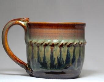 coffee cup, 12oz ceramic pottery mug