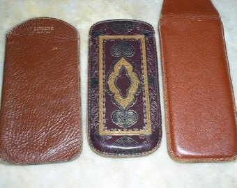 Leather Eyeglass Case Covers Vintage