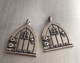 Fairy door charm pendants