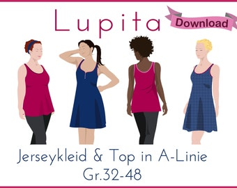 "eBook PDF Pattern ""Lupita"" Jerseykleid/Top"