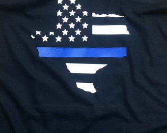 Support the Blue T-Shirt or Tank Top - Donation Made with Every Purchase!
