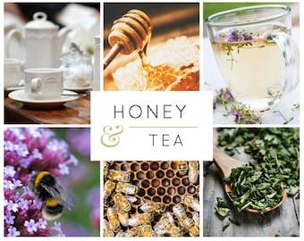 Tea Lover's Gift Box, Honey, Tea, Gift Basket