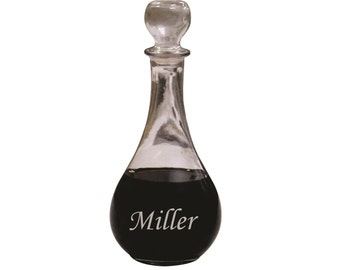 Personalized Wine Decanter, Custom Wine Carafe, Personalized Decanter, Bridesmaid Gift, Gifts for Couple, Wedding Gifts Personalized