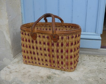 Woven vintage shopping basket