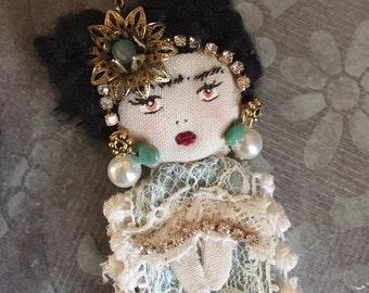 Frida Doll Necklace