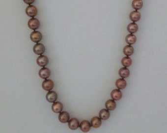 Graduated Multicolor Freshwater Pearl Necklace Women's Jewelry