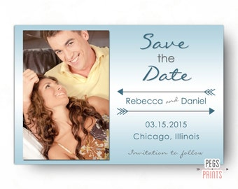 Photo Save the Date - Printable Save the Date Photo - Save the Date Photo Card - Save the Date Cards Wedding - Digital Printable