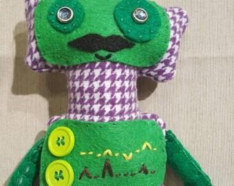 Green Robot Plushie, beep bop boop