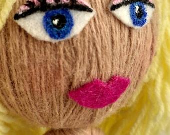 Fiona beautiful poseable yarn doll