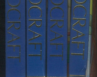 1996 Childcraft: The How and Why Library, 4 Volumes, Blue and White Vintage Children's Book Collection library homeschool, books by the foot