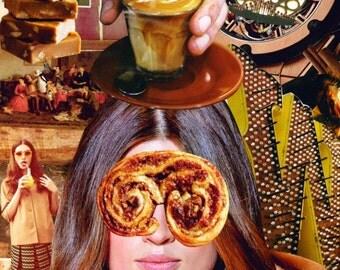 Collage Print - Café Caramel