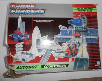 G1 Transformers Autobot Countdown Micromasters Rocket Base w/ Box Incomplete