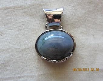 Agate Pendant silver