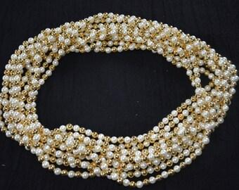 Milni Haar Garland pearl string, Indian wedding, Welcome Baraat, Indian ceremonies, wedding garlands, Milni mala, Traditional Hindu wedding
