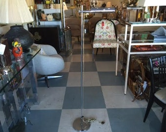 Mid Century Modern Adjustable Chrome Floor Lamp by Koch and Lowy for Omi