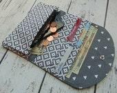 Women's Fabric Wallet, Wallet, Credit Card Holder, Womens Wallet, Small Clutch, Phone Wallet, Phone Clutch