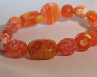 orange sun lamp work beads
