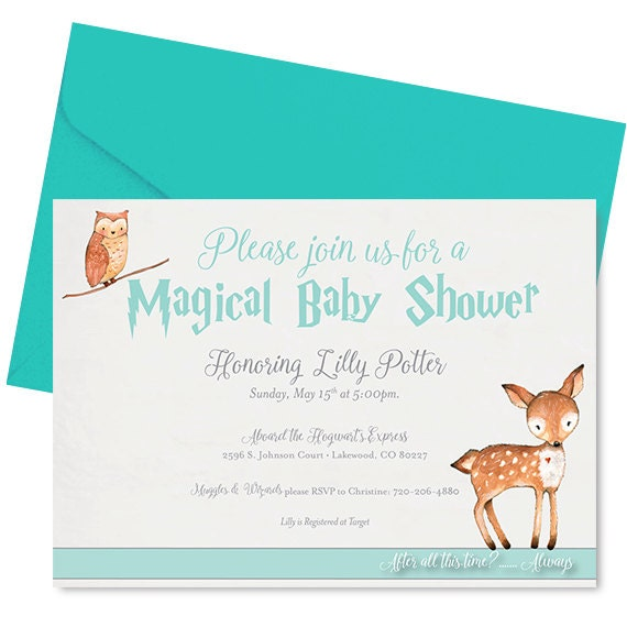 Harry Potter Baby Shower Invitations could be nice ideas for your invitation template
