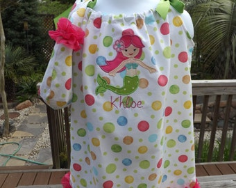 Personalized pillowcase dress with toddler purse