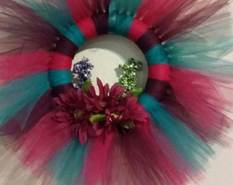 Floral Tulle Wreath