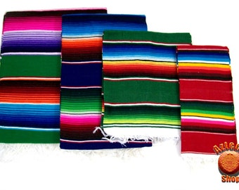 Mexican Serape Sarape Blanket Assorted Colors