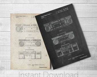 Boom Box Printables, Retro Radio, Technology Art, Boombox, 80s Boombox, PP0448