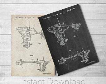 Star Wars Printables, Empire Strikes Back, Starwars Gift, Star Wars Wall Art, Star Wars Ships, PP0529