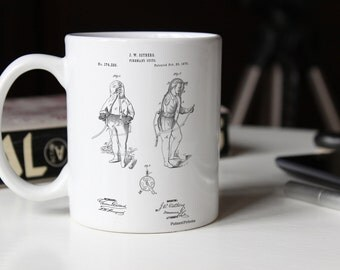 Firefighter Suit 1876 Patent Mug, Fire Department, Firehouse, FDNY, Fireman Outfit, PP0810