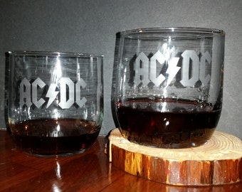 AC/DC Etched Glasses