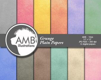 Shabby Chic Digital Papers,  Multi-Colored Grunge Plain Pattern, Scrapbook Papers for Crafts, commercial use, AMB-1066