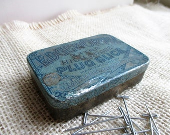 """Vintage """"T"""" Craft Pins with Edgeworth Tobacco Tin"""