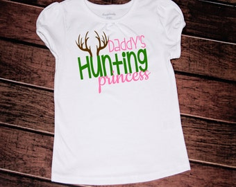 Daddy's hunting princess//girls//baby//toddler//2t//3t//4t//5t//6x