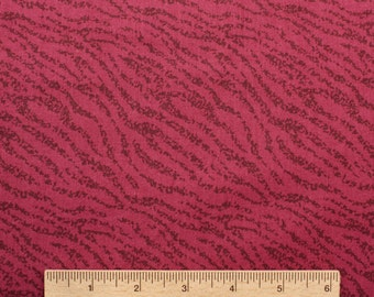 Zebra stripe Animal print fabric Wildberry fuchsia burgandy stripe 100% Cotton Fabric Quilting fabric by the yard freespirit zoo