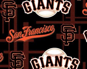 MLB San Francisco Giants Plaid Licensed Fleece Fabric