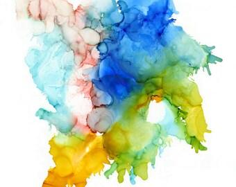 La Playa - abstract ink painting