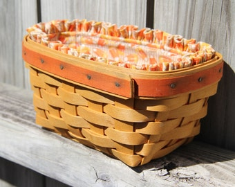 Longaberger Basket-Halloween Candy Corn Basket
