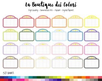 50 Rainbow Theater Marquee Clipart, Cute Digital Graphics PNG, Movie Sign, movie time, cinema Planner Stickers Clip art Commercial Use