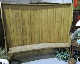 Antique 1840's English Pine Settle Bench