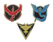Pokemon GO Team Badges (Gold Outline)