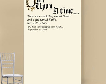 Once Upon a Time Personalized Phot Booth Backdrop (ENWF-JM26924)