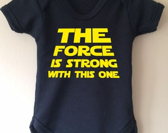 The force is strong with this one - Star Wars inspired baby body/vest/onesie