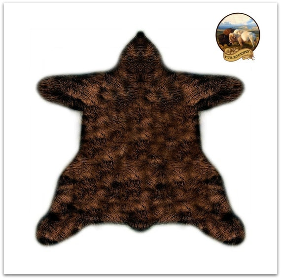 shaggy off white faux fur sheepskin bear skin rug accent. Black Bedroom Furniture Sets. Home Design Ideas