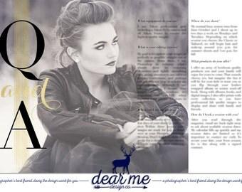 Streak Q and A magazine spread