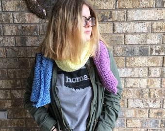 SALE    Muti Colour Colour-Block Knit Scarf